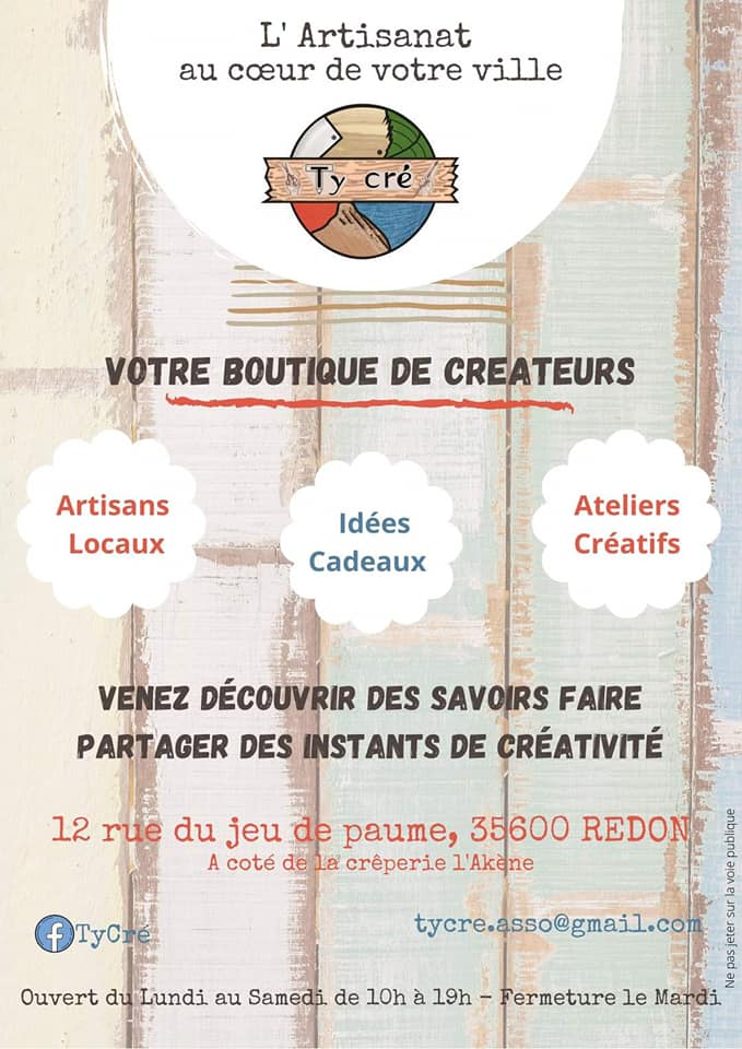 Flyer boutique Ty Cré